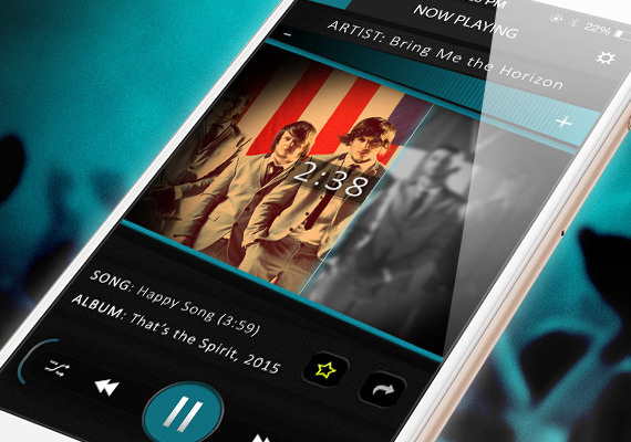 Custom IOS Music Player design.                                  <br/><br/>                                 Project Details                                 <ul>                                     <li><strong>Name</strong>: IOS Music Player</li>                                     <li><strong>Position</strong>: Freelancer</li>                                     <li><strong>Type</strong>: Mobile UI Design</li>                                     <li><strong>Role</strong>: UI Designer</li>                                     <li><strong>Year</strong>: 2016</li>                                   </ul>